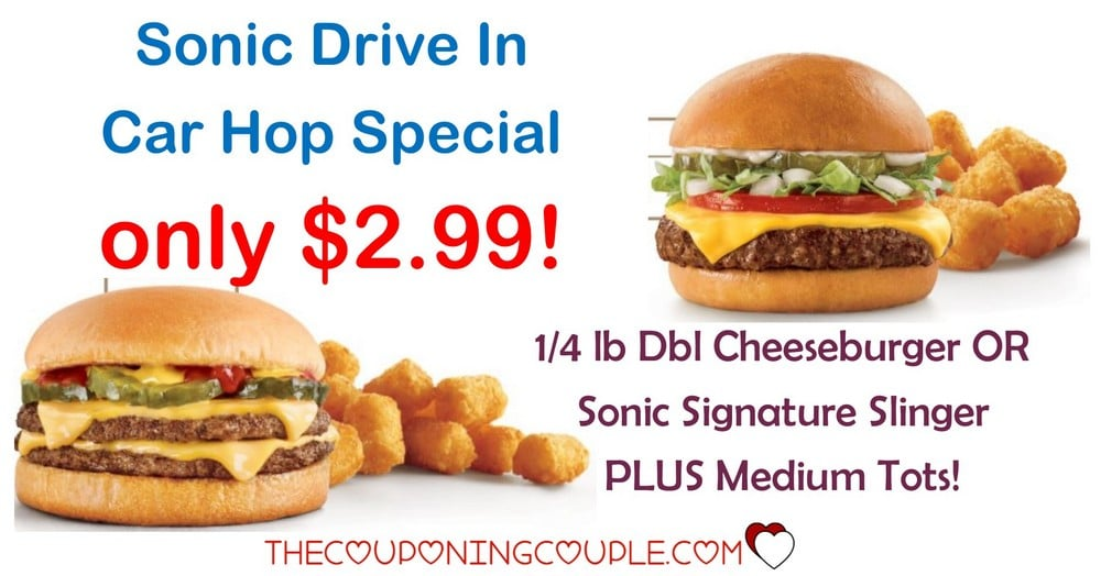 Sonic Drive in Specials