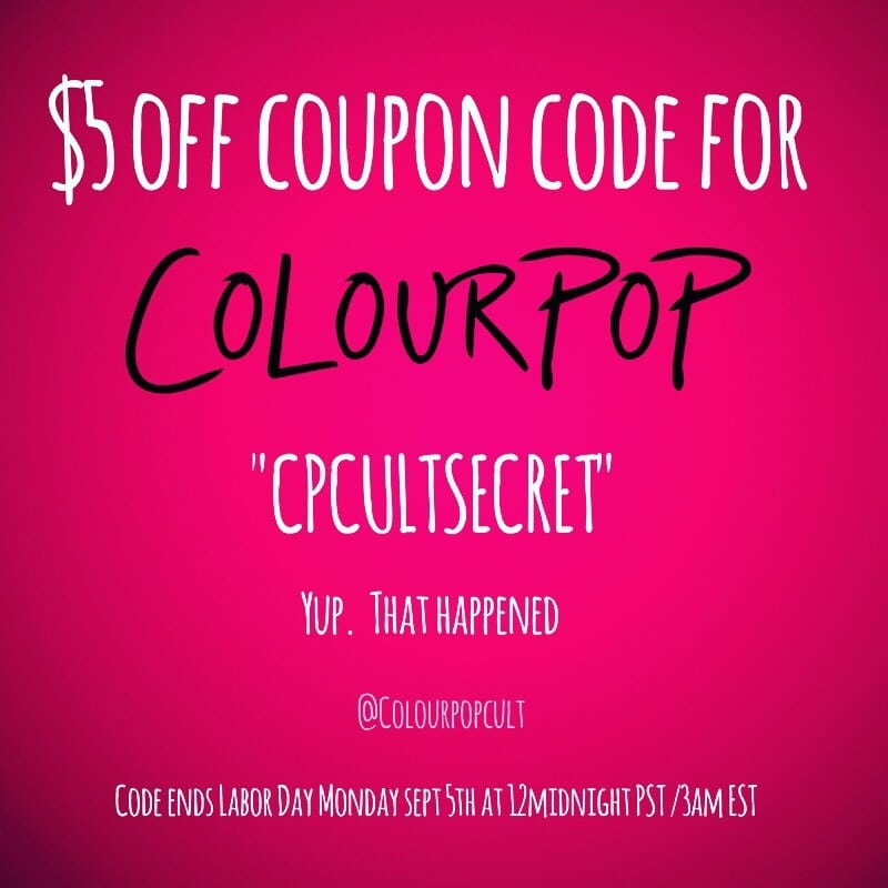 Colourpop Coupon